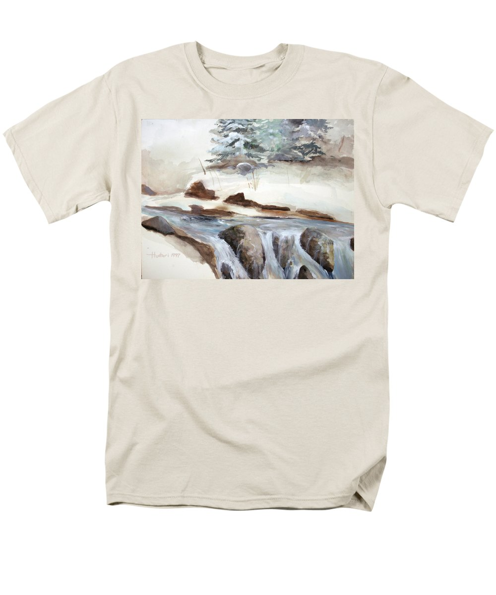 Rick Huotari Men's T-Shirt (Regular Fit) featuring the painting Springtime by Rick Huotari