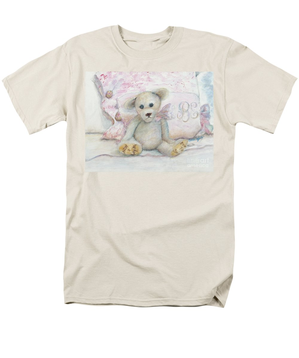 Teddy Bear Men's T-Shirt (Regular Fit) featuring the painting Teddy Friend by Nadine Rippelmeyer