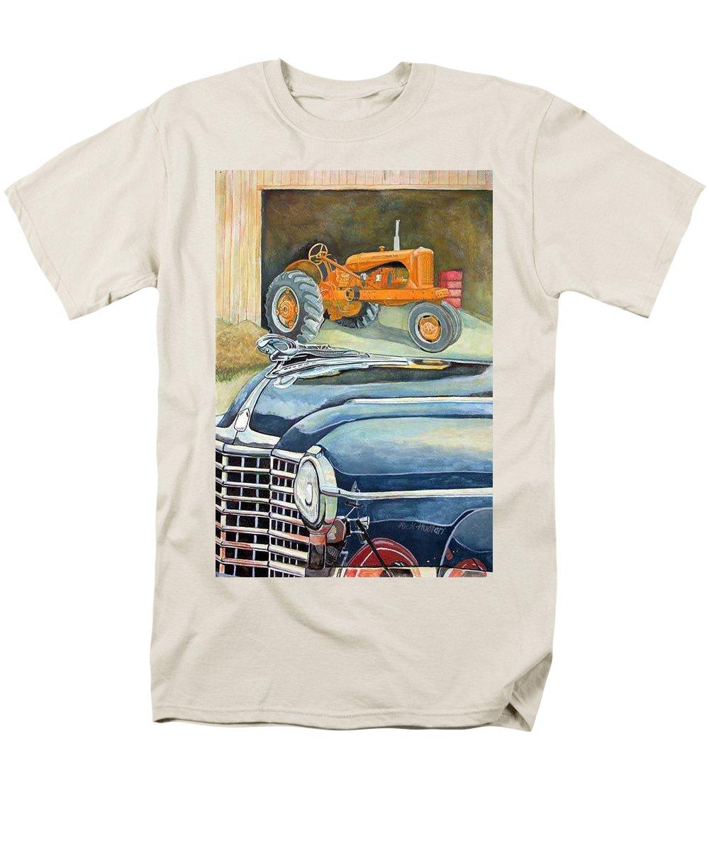 Rick Huotari Men's T-Shirt (Regular Fit) featuring the painting The Old Farm by Rick Huotari