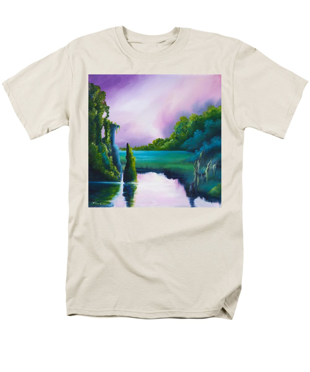 Sunrise Men's T-Shirt (Regular Fit) featuring the painting Vasperaso by James Christopher Hill