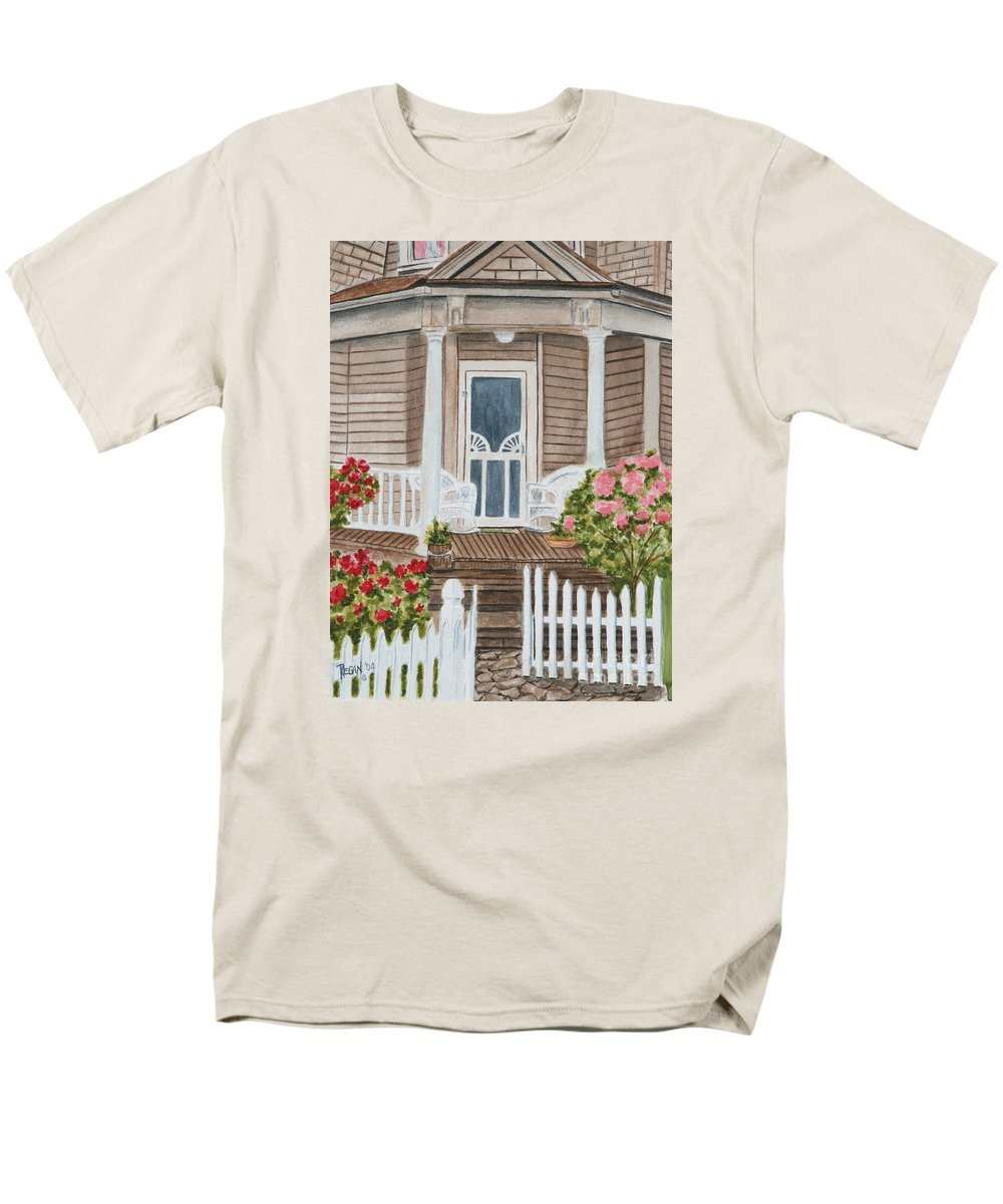 Architecture Men's T-Shirt (Regular Fit) featuring the painting Welcome by Regan J Smith