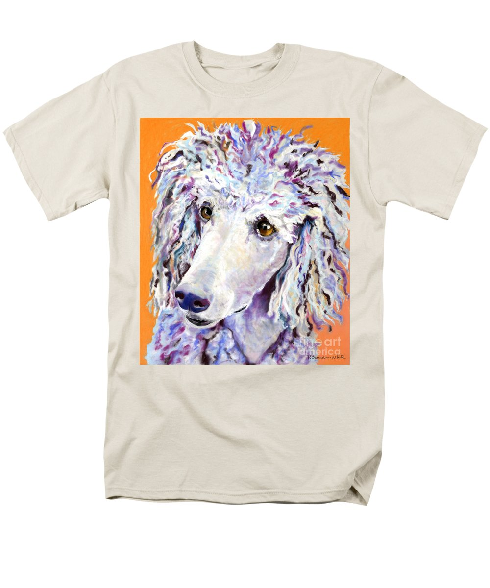 Standard Poodle Men's T-Shirt (Regular Fit) featuring the pastel Above The Standard  by Pat Saunders-White