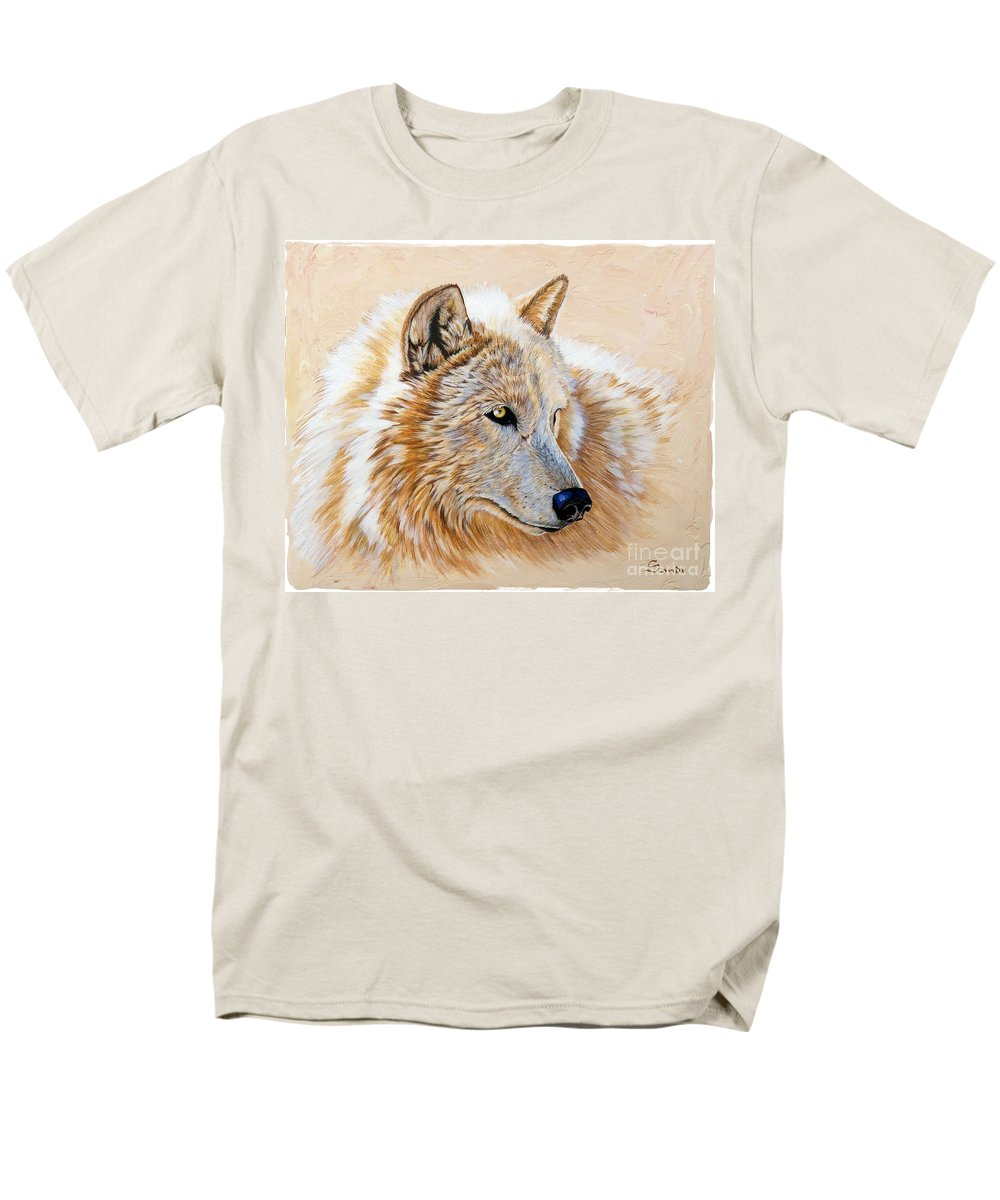 Acrylic Men's T-Shirt (Regular Fit) featuring the painting Adobe White by Sandi Baker