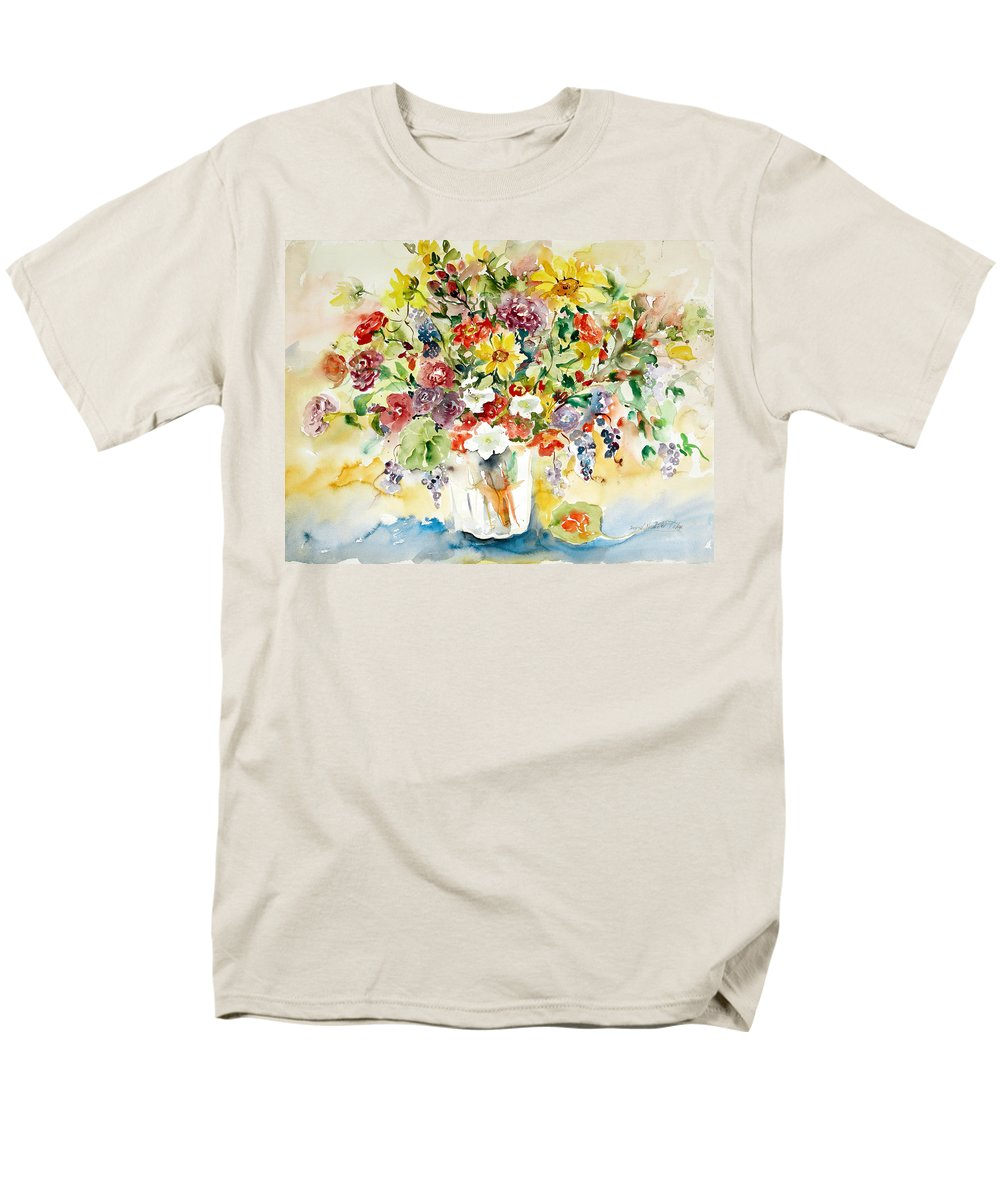 Watercolor Men's T-Shirt (Regular Fit) featuring the painting Arrangement IIi by Alexandra Maria Ethlyn Cheshire