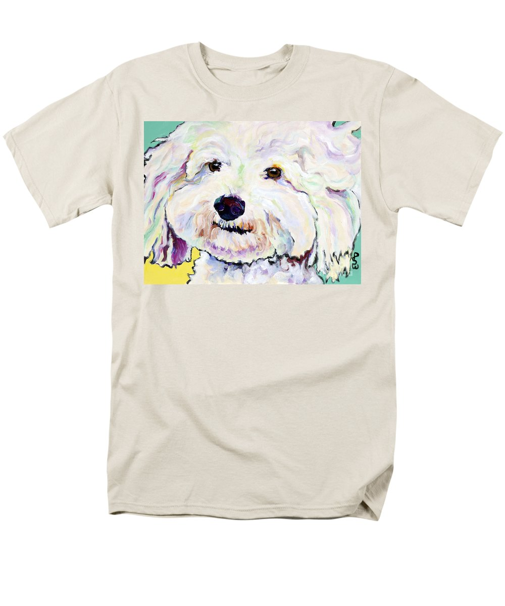 Bischon Men's T-Shirt (Regular Fit) featuring the painting Buttons  by Pat Saunders-White