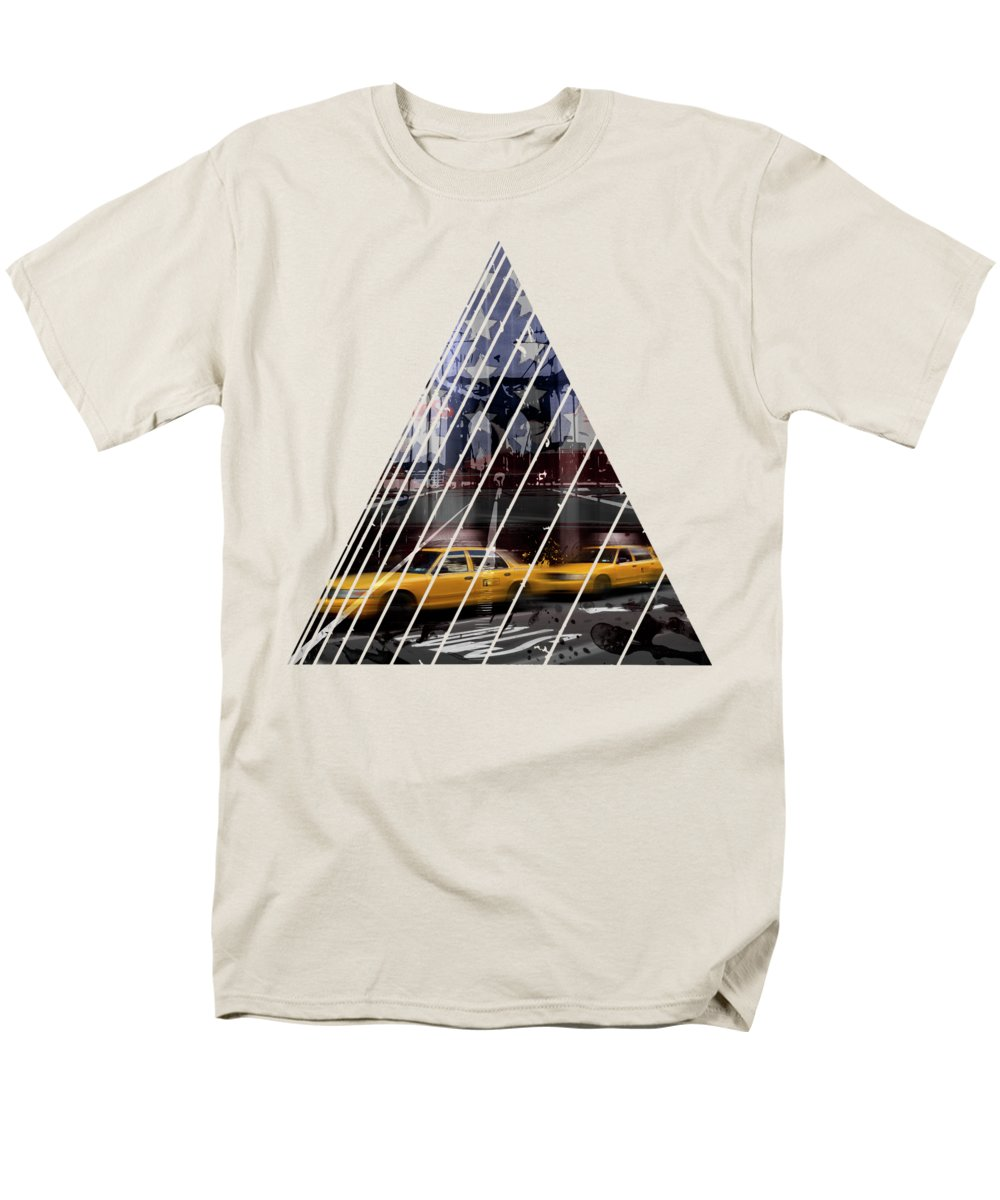 Abstract Men's T-Shirt (Regular Fit) featuring the photograph City-art Nyc Composing by Melanie Viola
