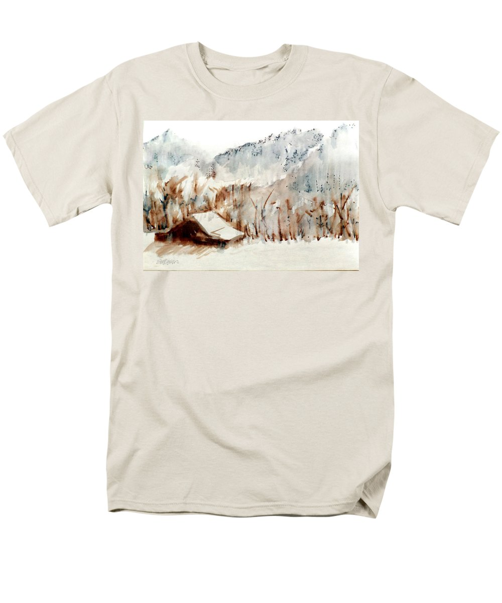 Cold Cove Men's T-Shirt (Regular Fit) featuring the mixed media Cold Cove by Seth Weaver