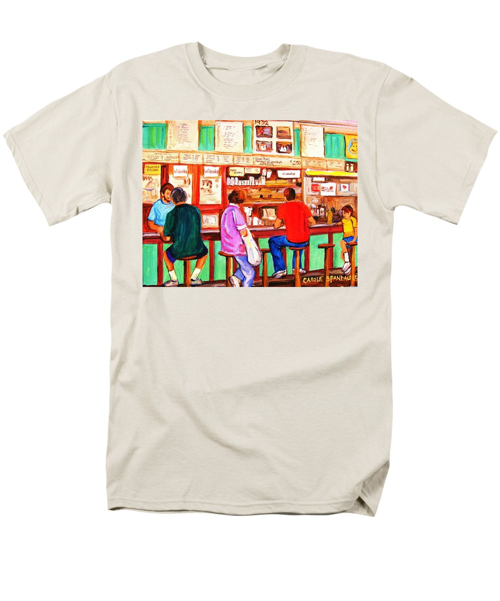 Montreal Men's T-Shirt (Regular Fit) featuring the painting Counter Culture by Carole Spandau