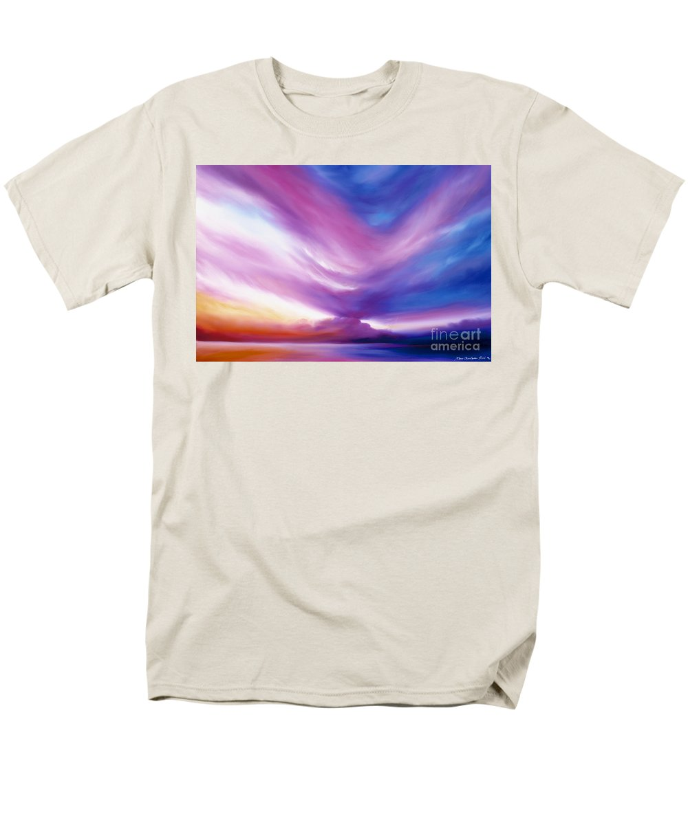 Clouds Men's T-Shirt (Regular Fit) featuring the painting Ecstacy by James Christopher Hill