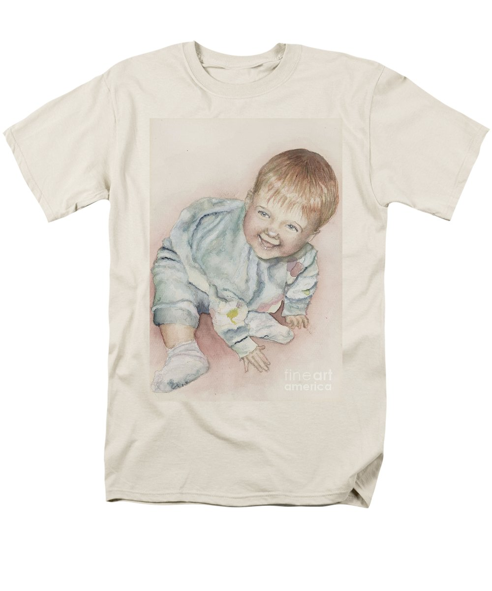 Girl Men's T-Shirt (Regular Fit) featuring the painting Elise by Nadine Rippelmeyer