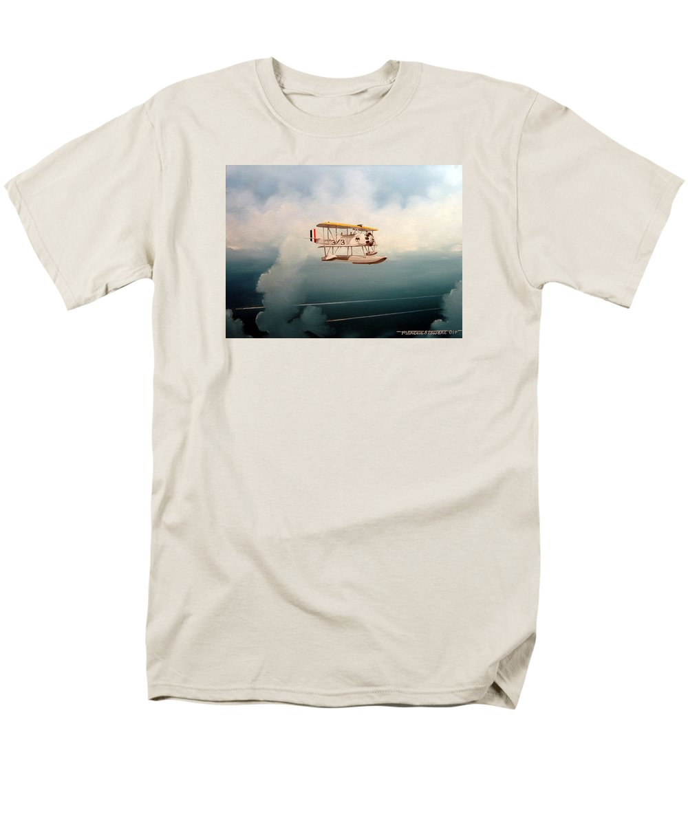 Military Men's T-Shirt (Regular Fit) featuring the painting Eyes Of The Fleet by Marc Stewart