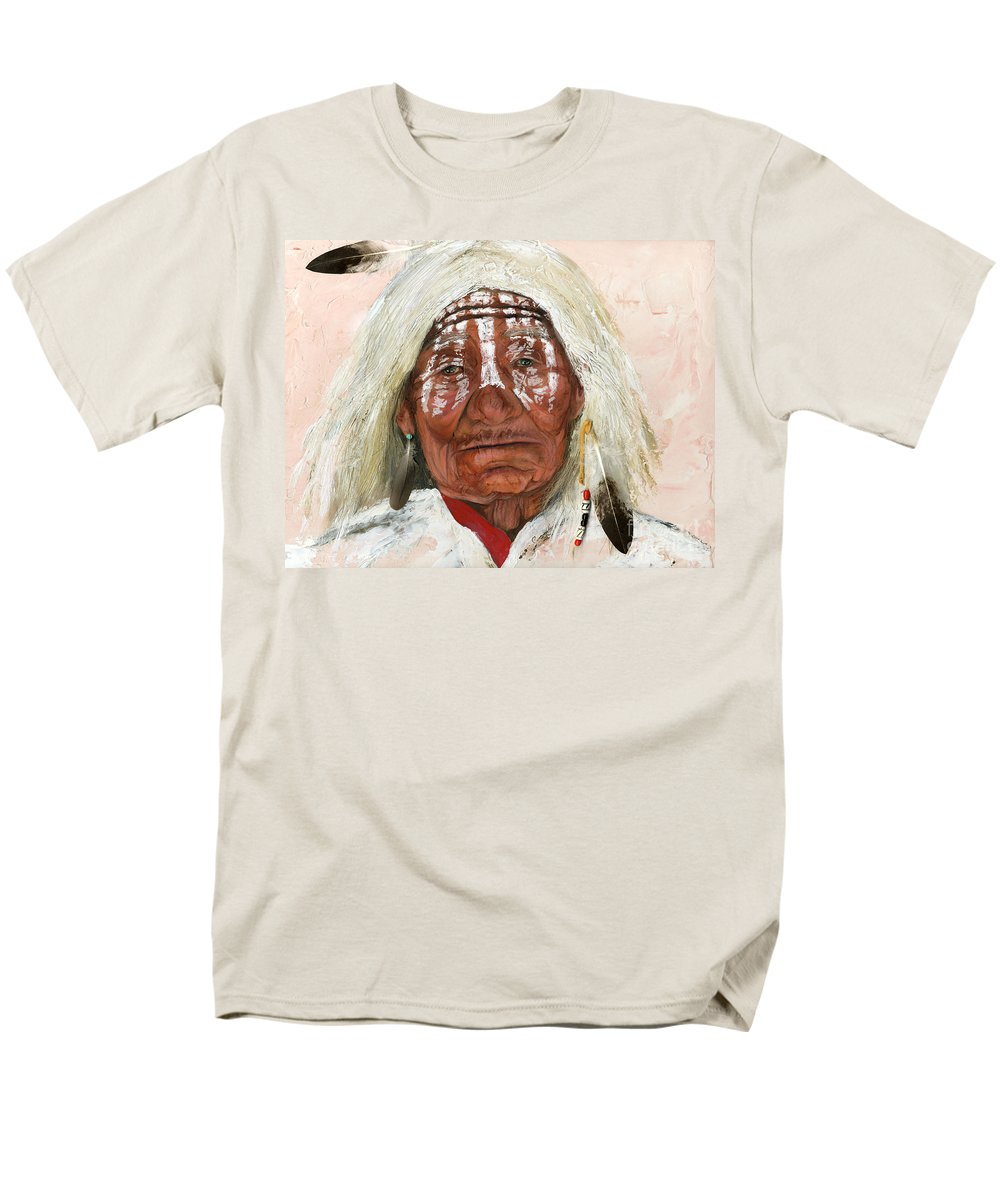 Southwest Art Men's T-Shirt (Regular Fit) featuring the painting Ghost Shaman by J W Baker