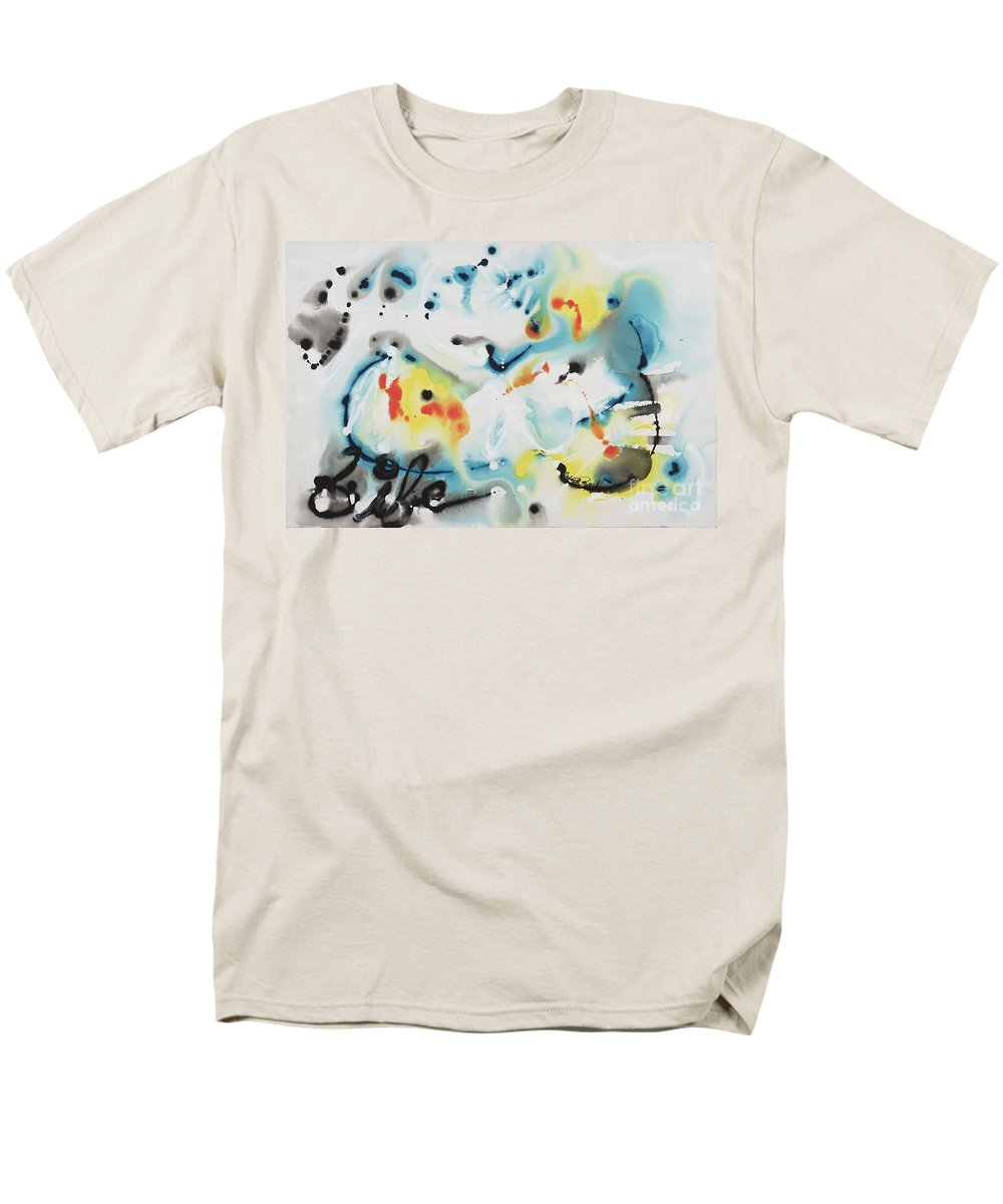 Life Men's T-Shirt (Regular Fit) featuring the painting Life by Nadine Rippelmeyer