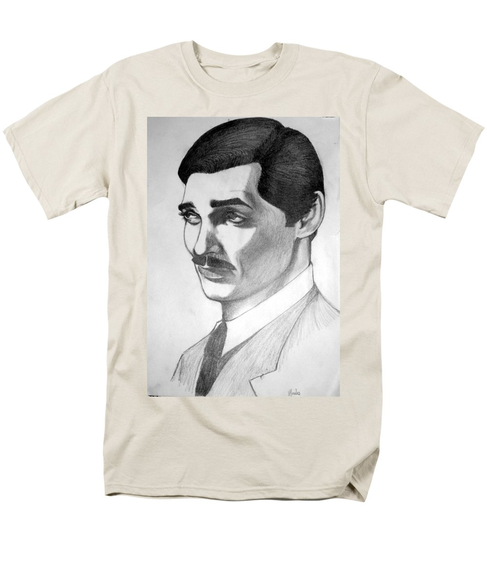 Portrait Men's T-Shirt (Regular Fit) featuring the drawing Long Live the King by Marco Morales