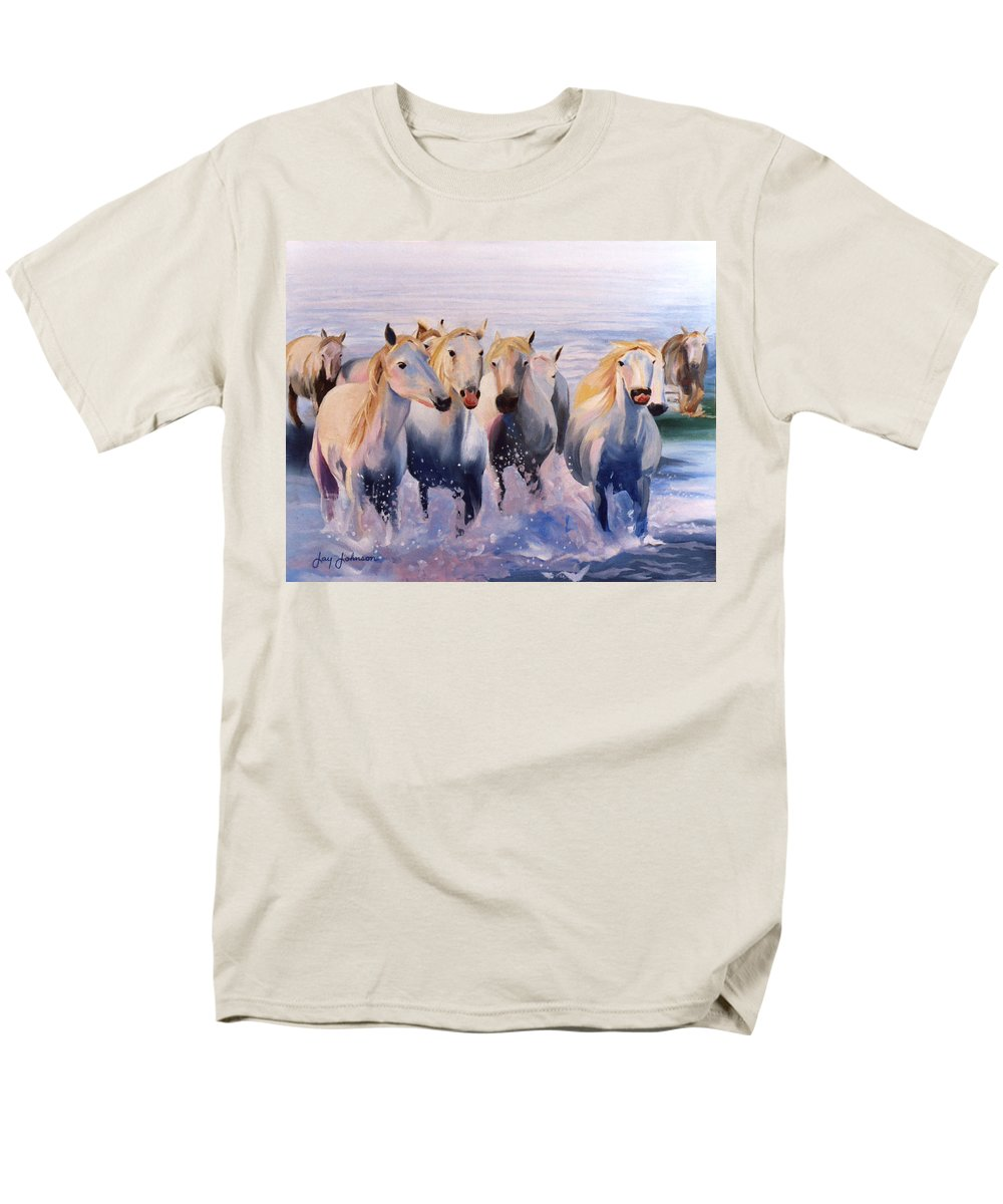 Men's T-Shirt (Regular Fit) featuring the painting Morning Run by Jay Johnson