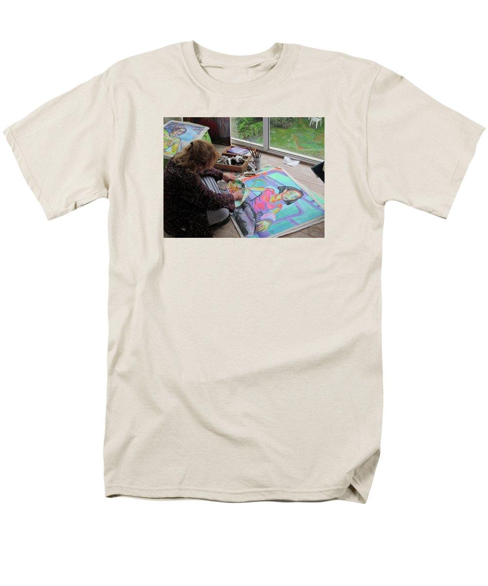 Landscape Men's T-Shirt (Regular Fit) featuring the painting Nude by Raquel Sarangello
