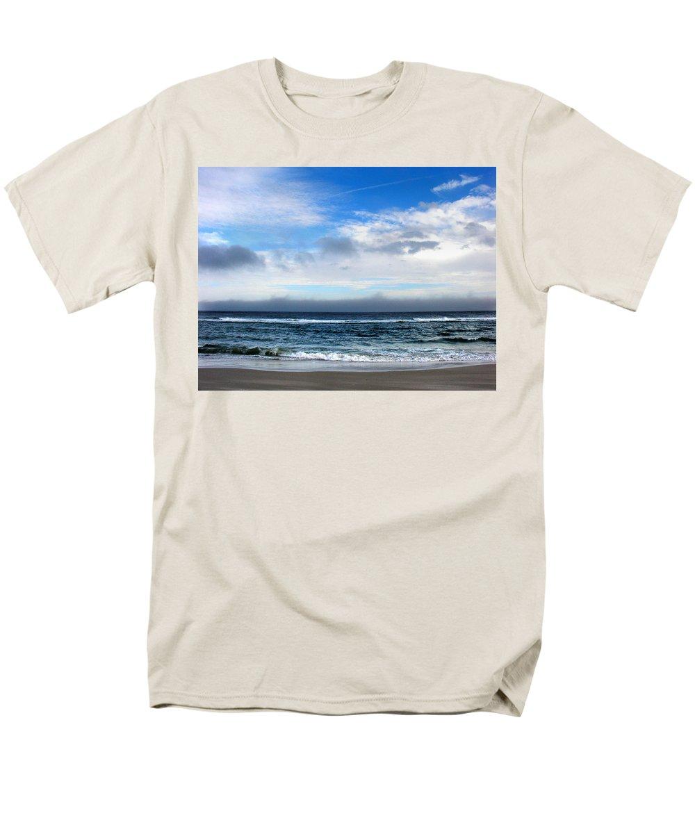 Seascape Men's T-Shirt (Regular Fit) featuring the photograph Receding Fog Seascape by Steve Karol