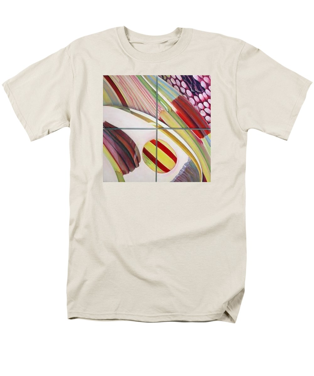 Abstract Men's T-Shirt (Regular Fit) featuring the painting Sens by Muriel Dolemieux