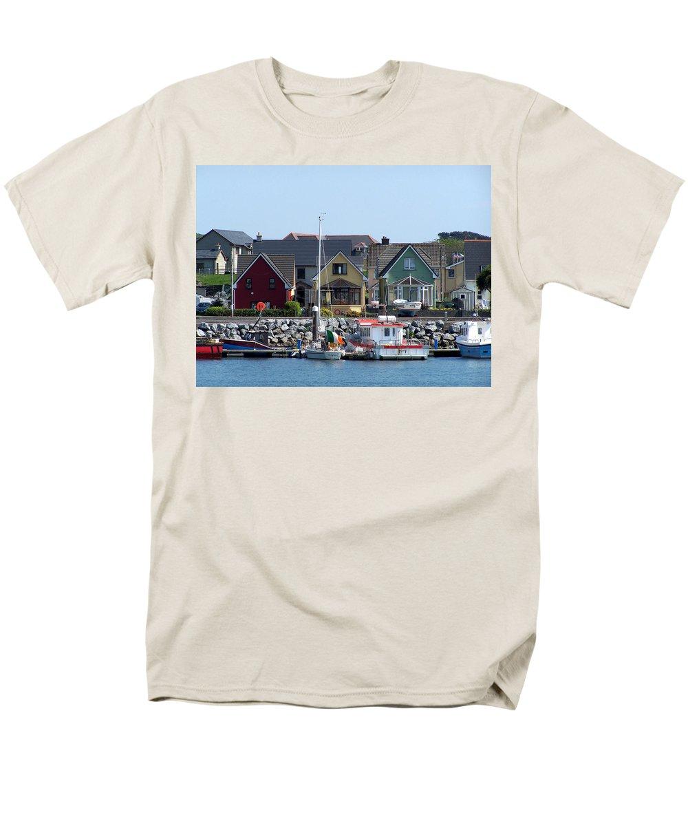 Irish Men's T-Shirt (Regular Fit) featuring the photograph Summer Cottages Dingle Ireland by Teresa Mucha