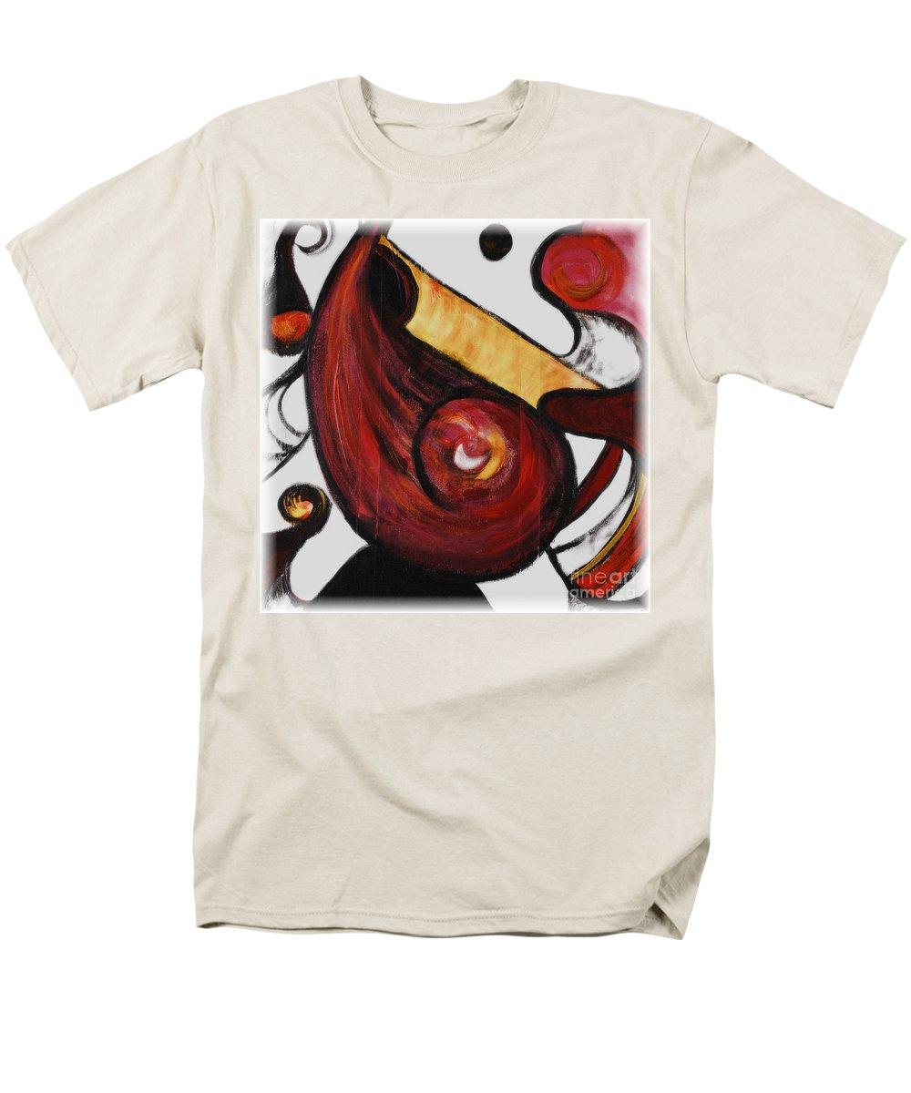 Survivor Men's T-Shirt (Regular Fit) featuring the painting Survivor by Nadine Rippelmeyer
