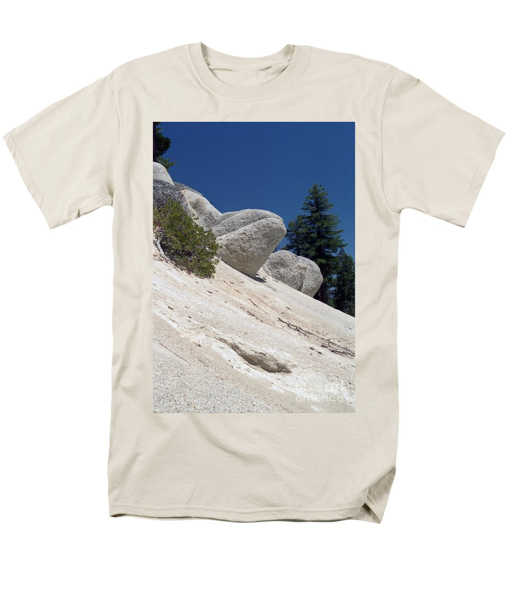 Abstract Men's T-Shirt (Regular Fit) featuring the photograph Tahoe Rocks by Richard Rizzo
