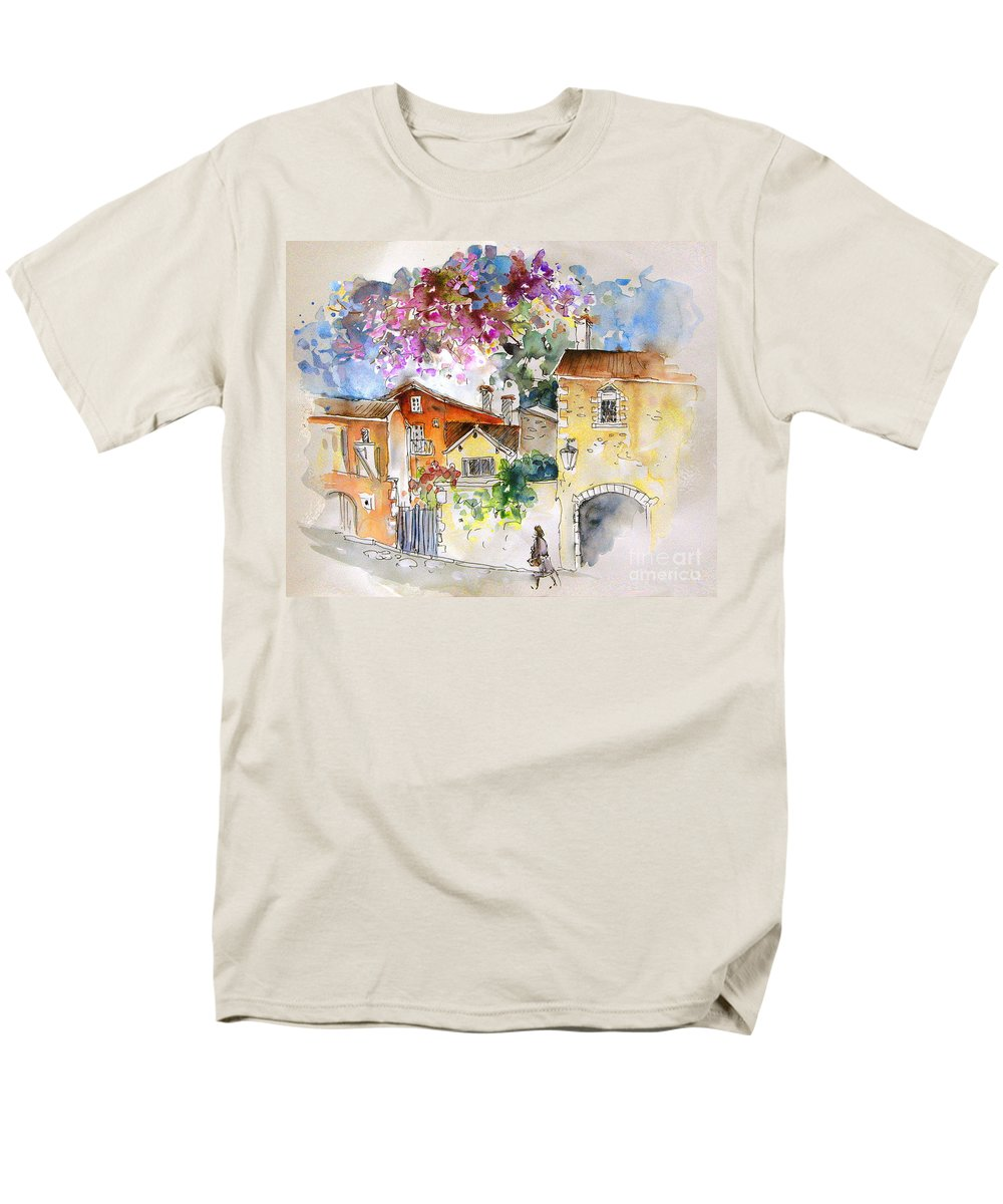France Paintings Men's T-Shirt (Regular Fit) featuring the painting The Perigord in France by Miki De Goodaboom