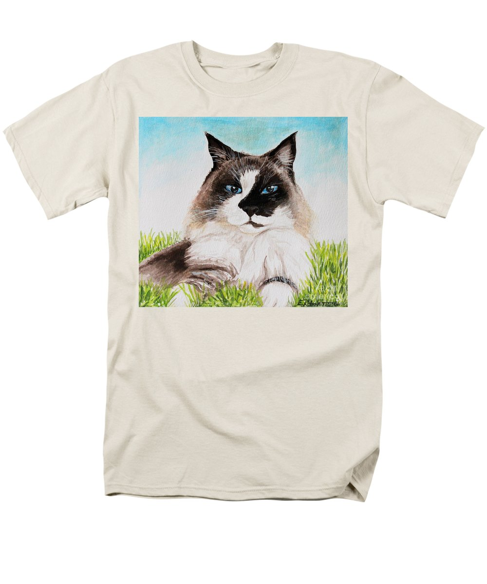 Pet Men's T-Shirt (Regular Fit) featuring the painting The Ragdoll by Elizabeth Robinette Tyndall