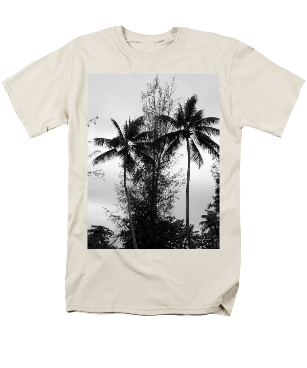 Palms Men's T-Shirt (Regular Fit) featuring the photograph Tree Between the Trees by Deborah Crew-Johnson