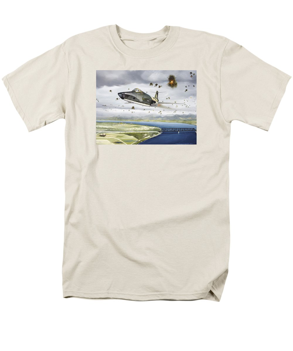 Military Men's T-Shirt (Regular Fit) featuring the painting Voodoo Vs The Dragon by Marc Stewart