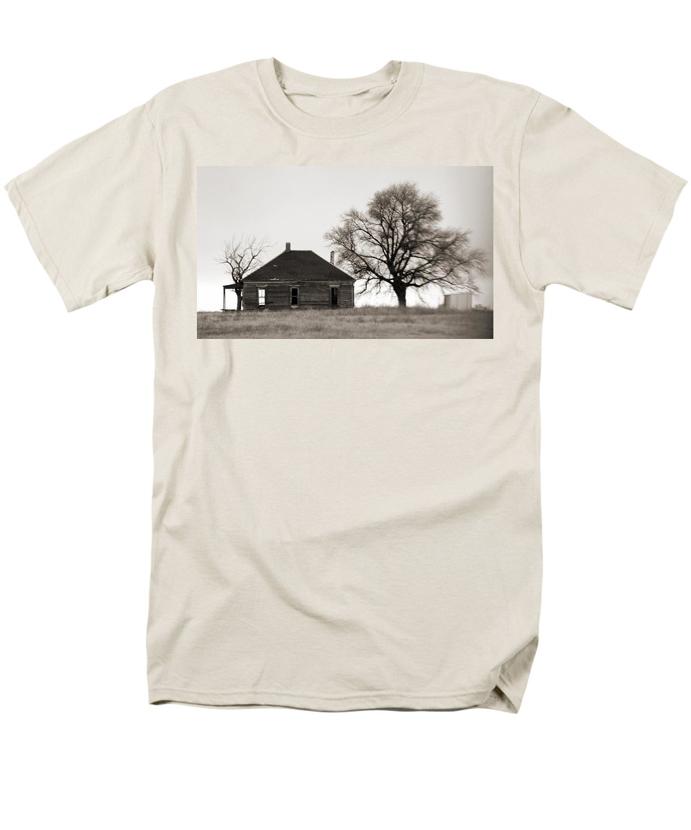 Texas Men's T-Shirt (Regular Fit) featuring the photograph West Texas Winter by Marilyn Hunt