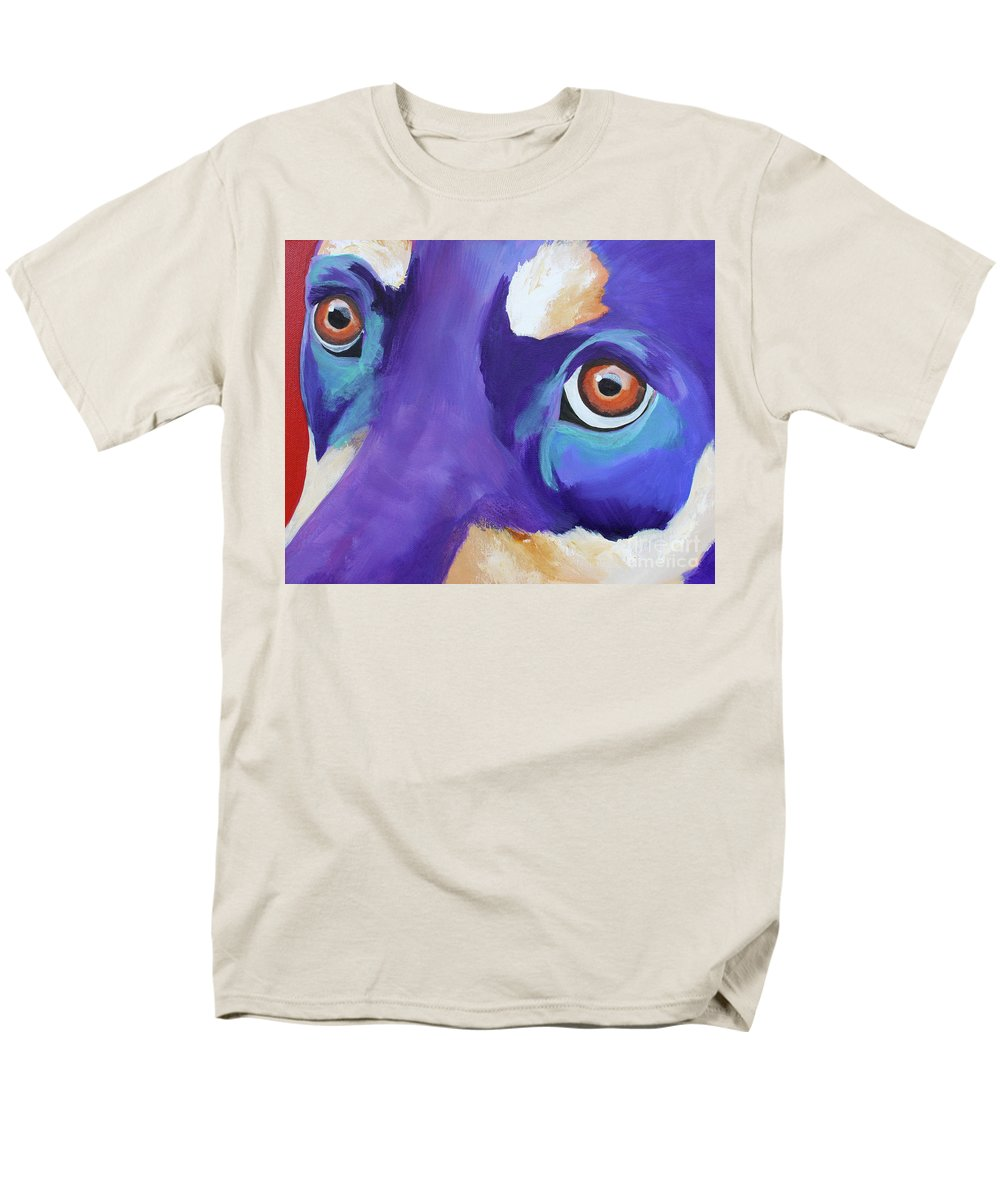 Dog Men's T-Shirt (Regular Fit) featuring the painting That Look by Jody Wright