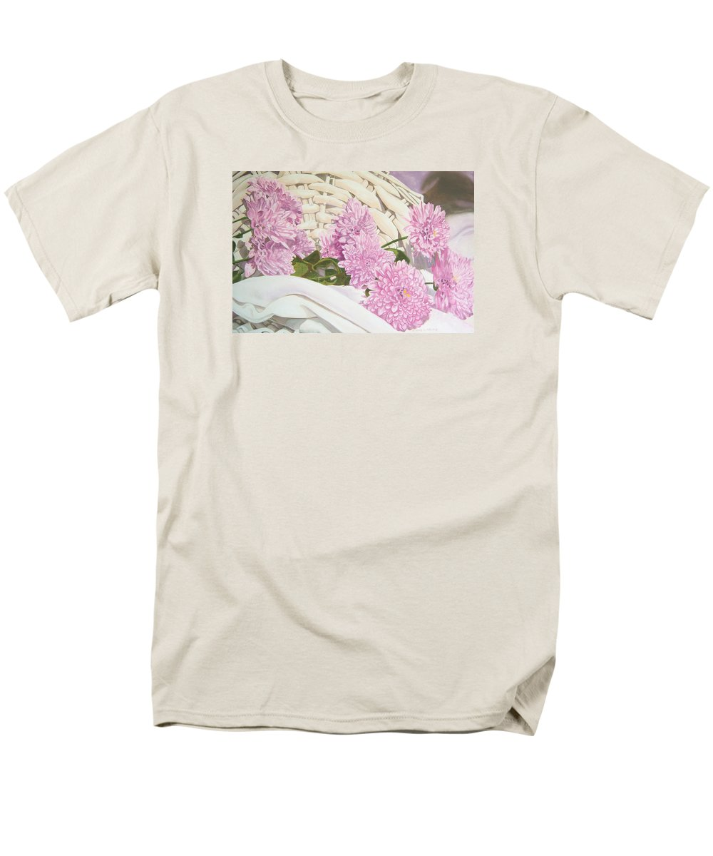 Fine Art Print Men's T-Shirt (Regular Fit) featuring the painting Floral Art Print For Sale Still Life Oil Painting by Diane Jorstad