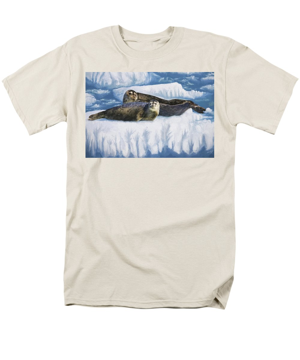 Oil Painting Men's T-Shirt (Regular Fit) featuring the painting Comfort Zone by David Wagner