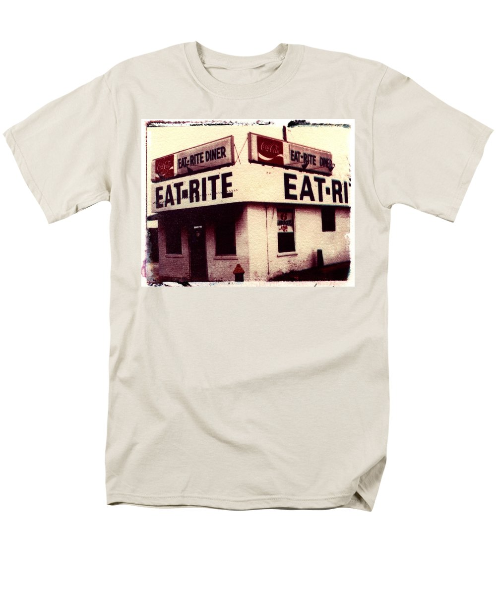 Polaroid Transfer Men's T-Shirt (Regular Fit) featuring the photograph Eat Rite by Jane Linders
