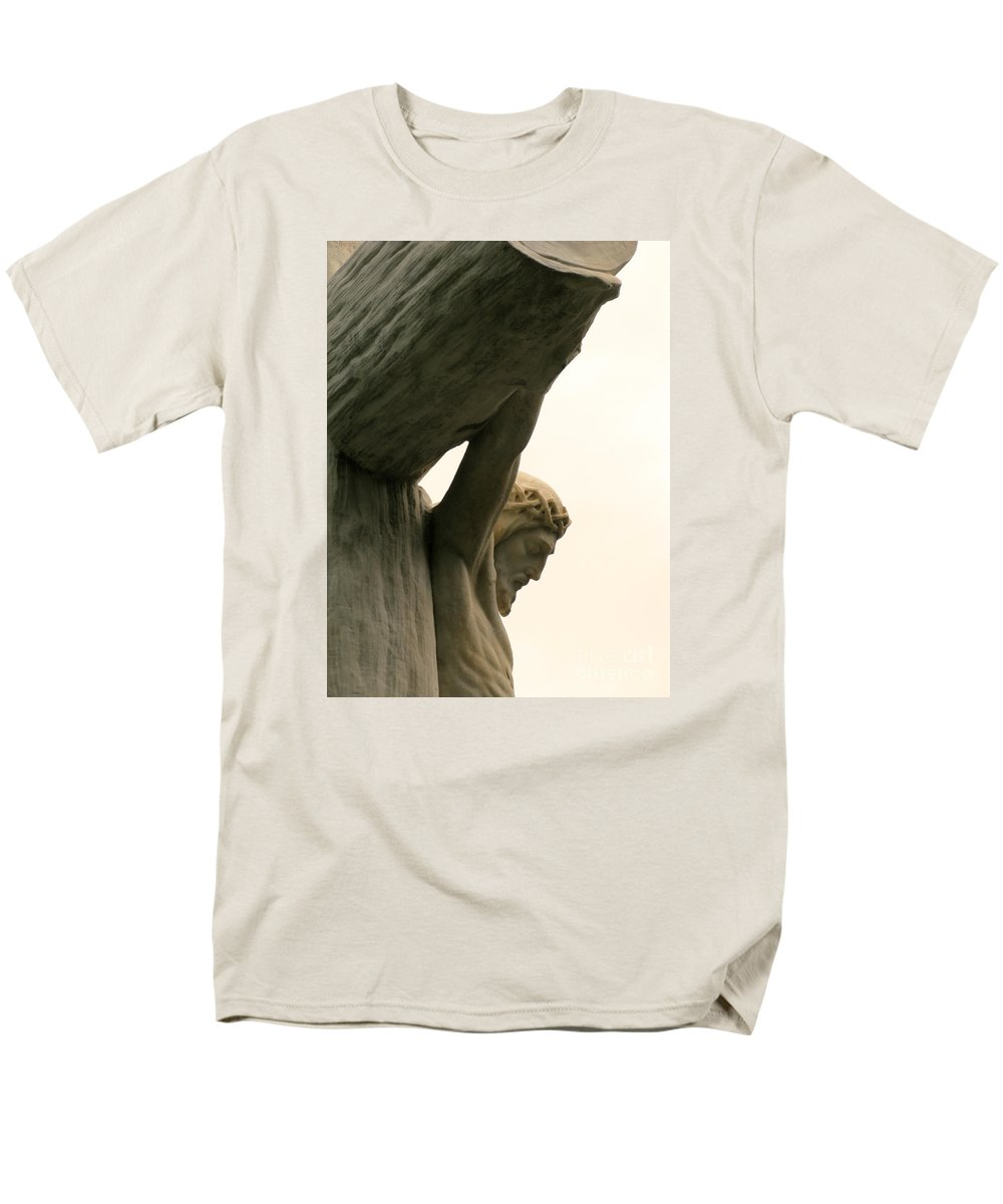 Crucifixion Men's T-Shirt (Regular Fit) featuring the photograph On the Cross by Ann Horn