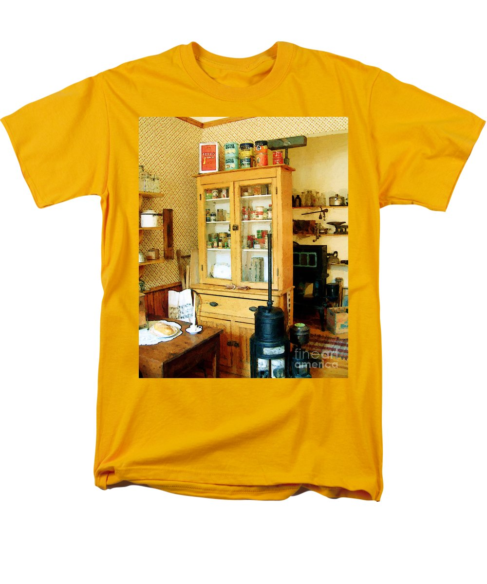 Antiques Men's T-Shirt (Regular Fit) featuring the painting Country Kitchen Sunshine III by RC DeWinter