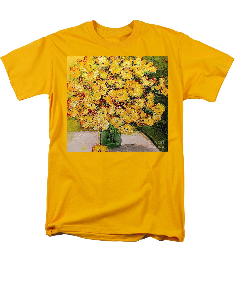 Landscape Men's T-Shirt (Regular Fit) featuring the painting New Beginnings by Allan P Friedlander