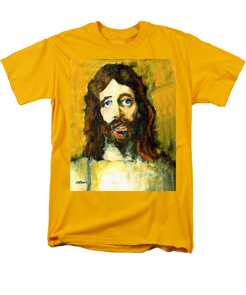 Jesus Christ Men's T-Shirt (Regular Fit) featuring the painting The Galilean by Seth Weaver