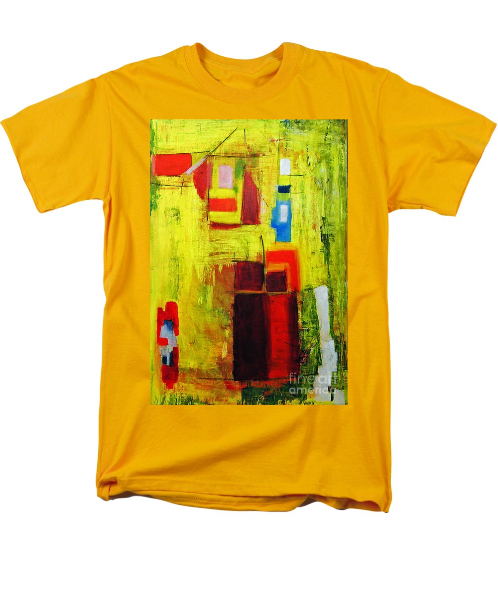 Abstract Painting Men's T-Shirt (Regular Fit) featuring the painting Yellow by Jeff Barrett