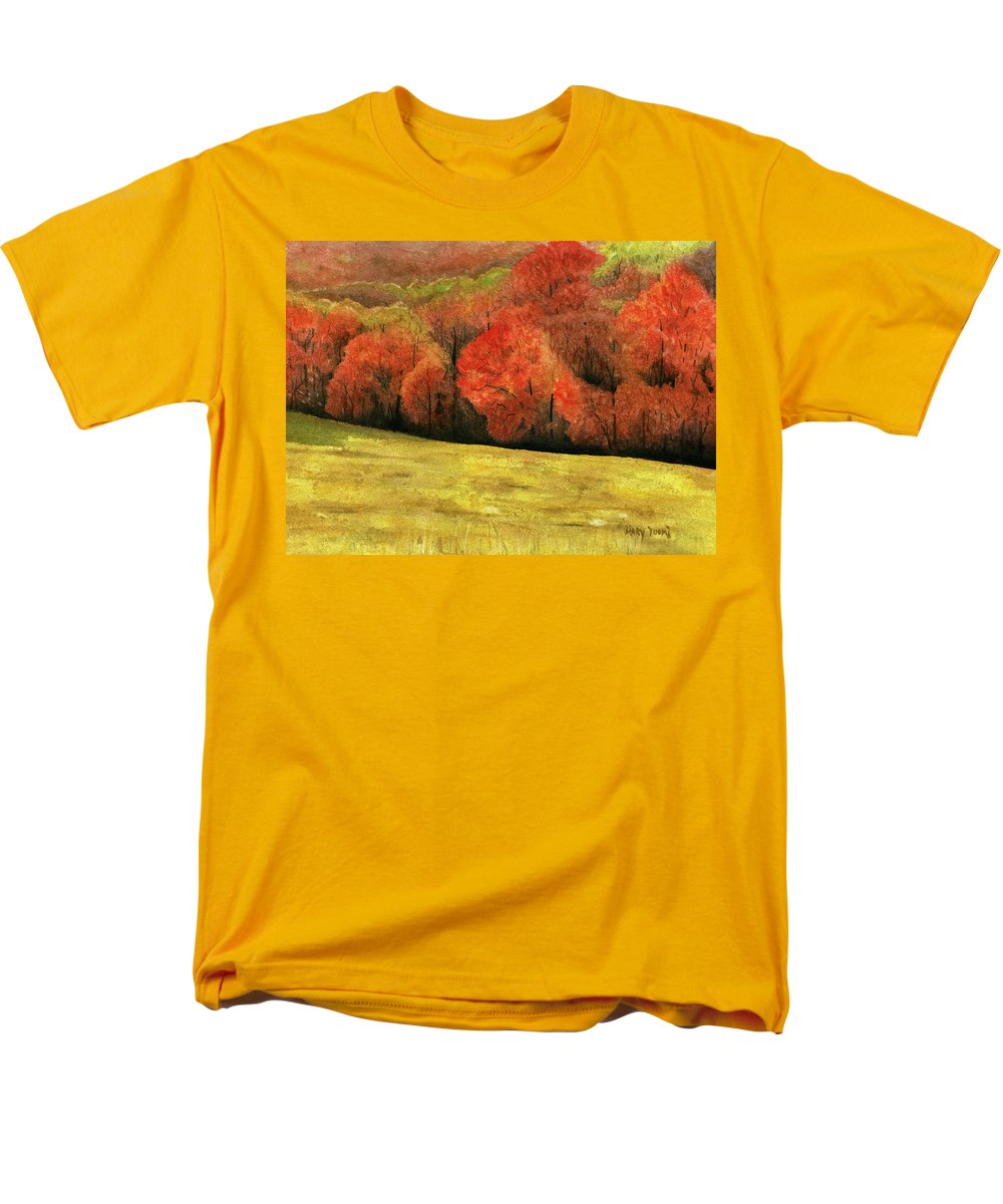 Autumn Men's T-Shirt (Regular Fit) featuring the painting Autumn Splendor by Mary Tuomi