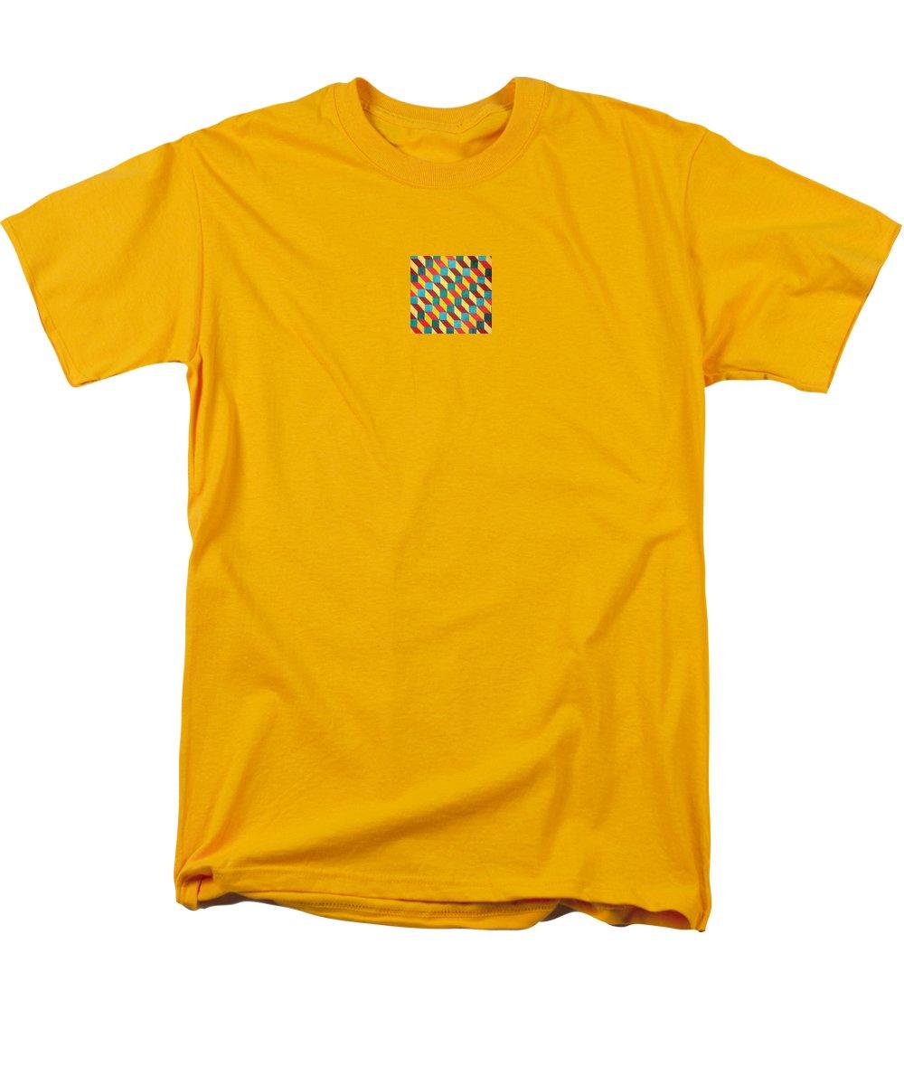 Rasta Art Men's T-Shirt (Regular Fit) featuring the painting Ancient Rasta by Andrew Johnson