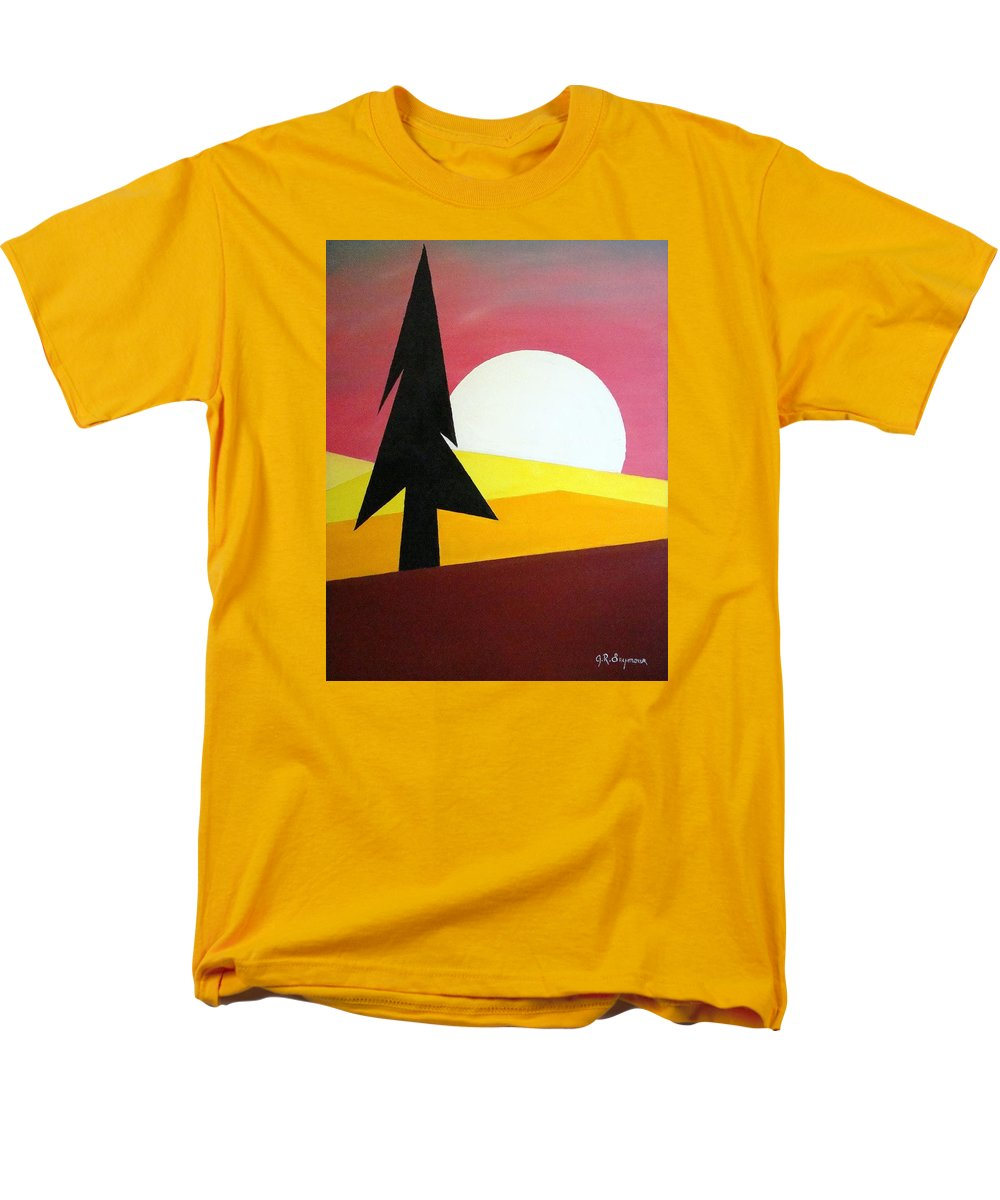 Phases Of The Moon Men's T-Shirt (Regular Fit) featuring the painting Bad Moon Rising by J R Seymour