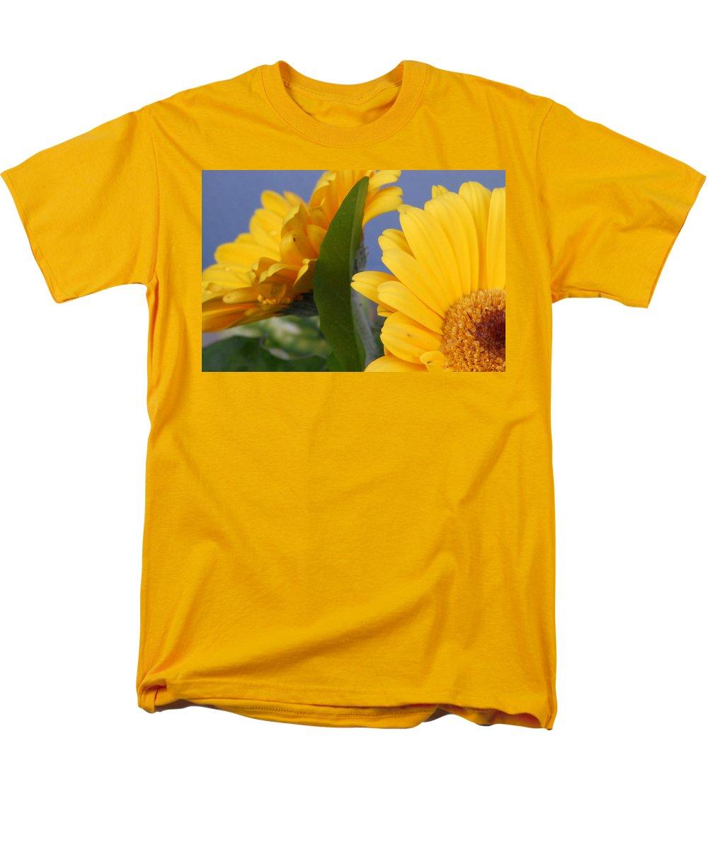 Gerbera Daisy Men's T-Shirt (Regular Fit) featuring the photograph Cheerful Gerbera Daisies by Amy Fose