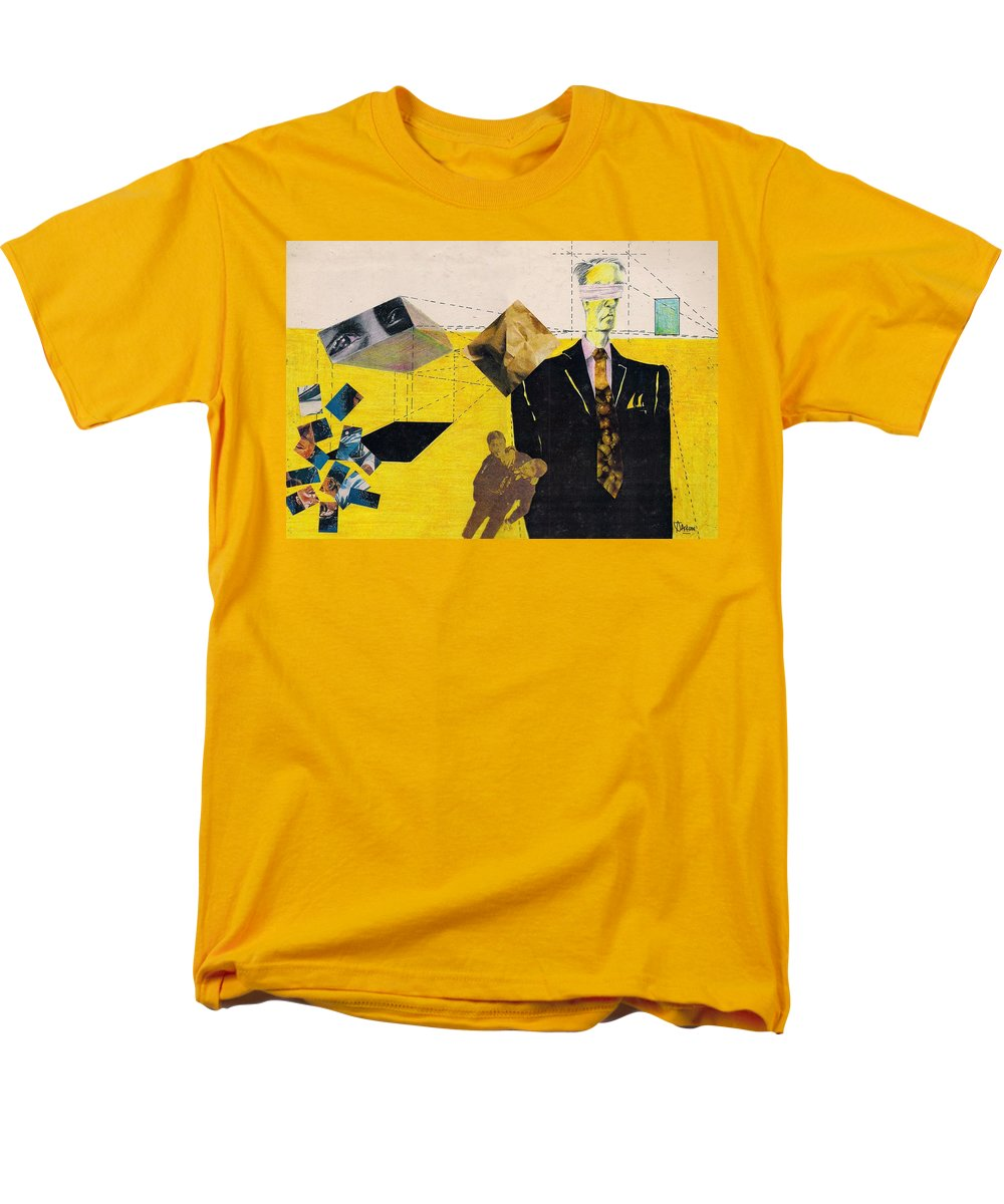 Idol Icon Conflict Lies Vicious Men's T-Shirt (Regular Fit) featuring the mixed media Idolatry by Veronica Jackson