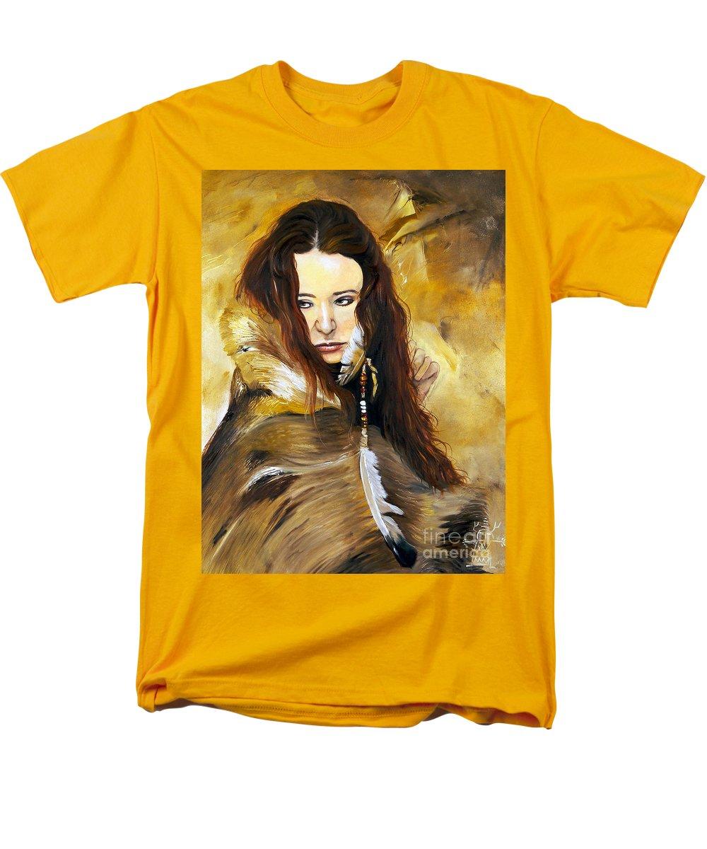 Southwest Art Men's T-Shirt (Regular Fit) featuring the painting Lament by J W Baker