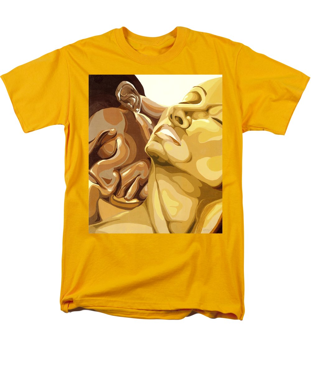 Figures Men's T-Shirt (Regular Fit) featuring the painting Passion by Lamark Crosby