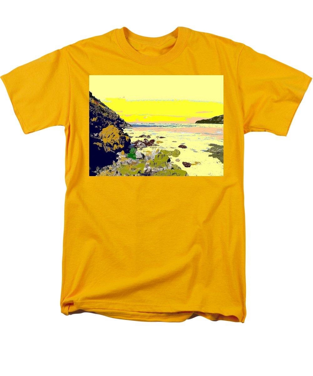 Beach Men's T-Shirt (Regular Fit) featuring the photograph Rocky Beach by Ian MacDonald