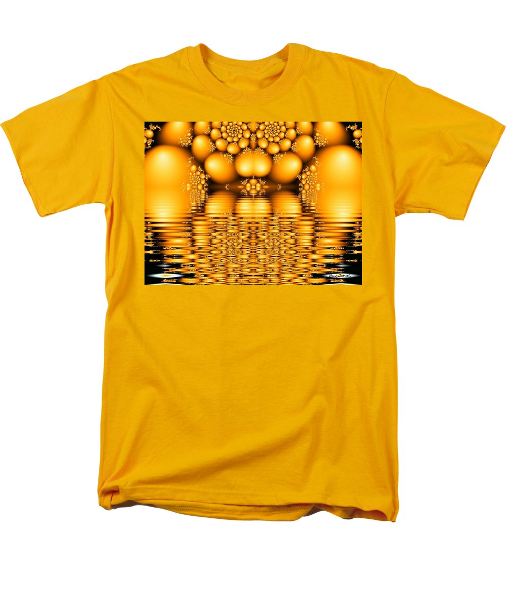 Tangerine Orange Water Sacred Tears Men's T-Shirt (Regular Fit) featuring the digital art Tangerine tears by Veronica Jackson