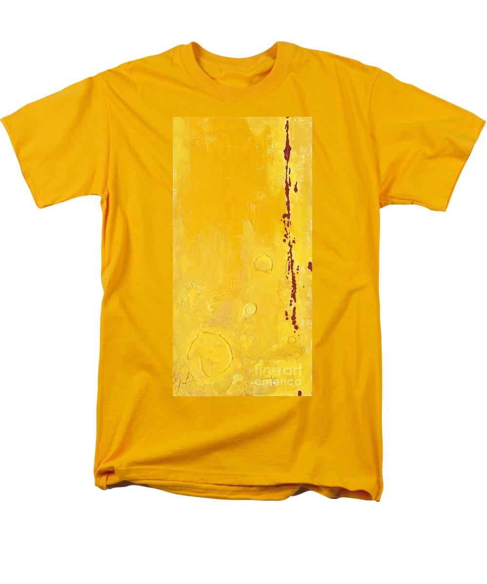 Mixed Media Men's T-Shirt (Regular Fit) featuring the mixed media Yellow by Jaime Becker