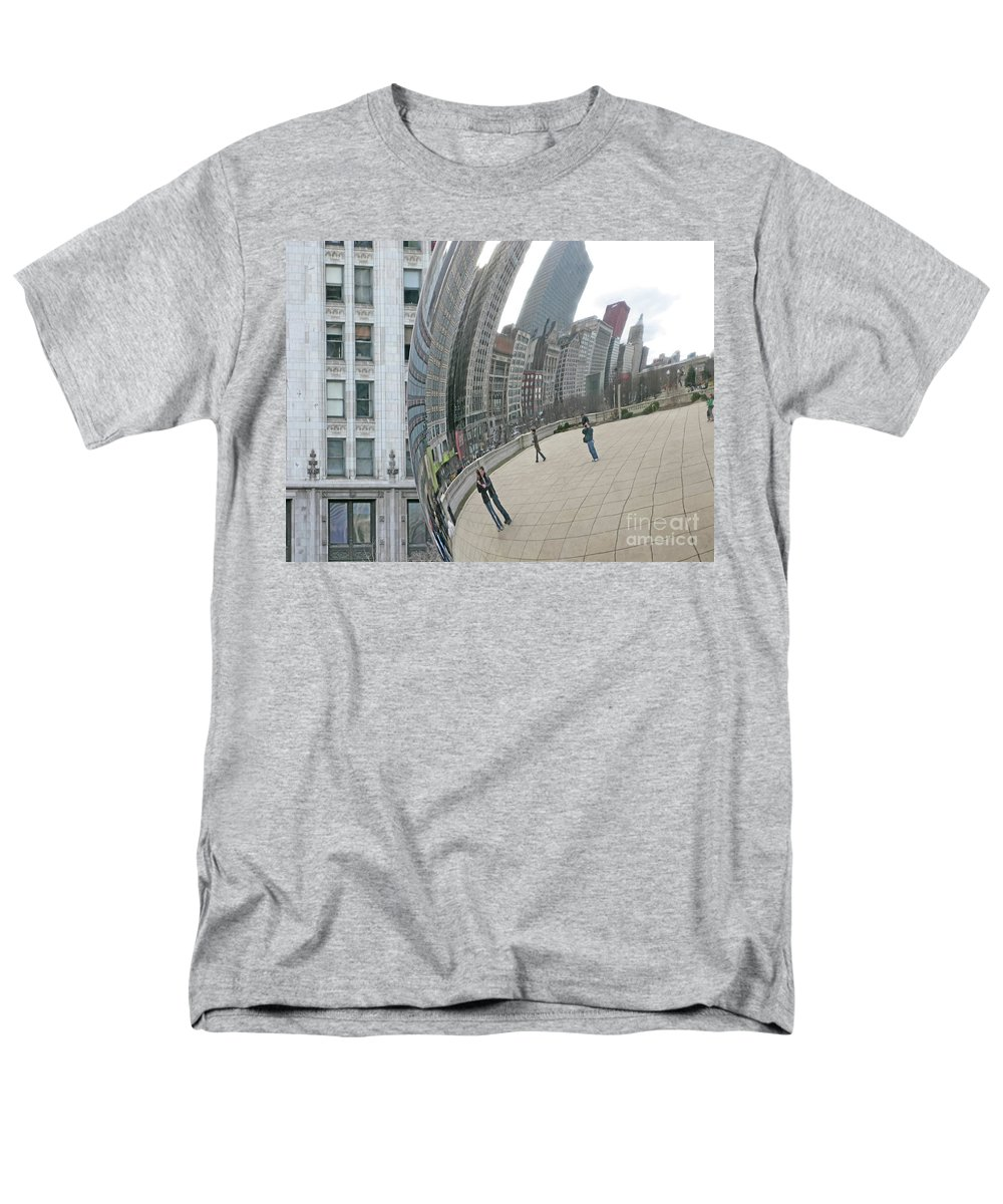 Chicago Men's T-Shirt (Regular Fit) featuring the photograph Imaging Chicago by Ann Horn